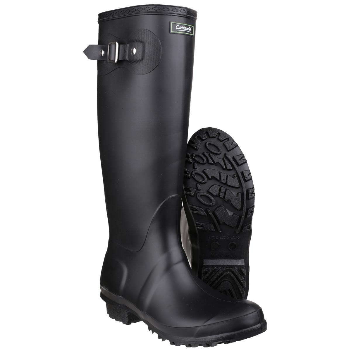 1df42bf7f8e Womens Cotswold Sandringham Wellington Boots - Black - UK Size 7