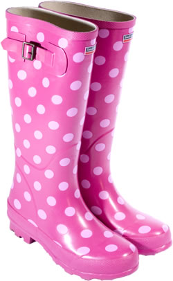 Image of Town and Country Pink Spotty Wellies - UK Size 6 / Euro 39