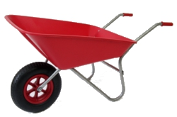 Image of Garden Wheelbarrow - Picador Red 85ltr