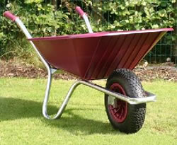 Image of Garden Wheelbarrow - Burgundy Clipper 90 to 110 ltr