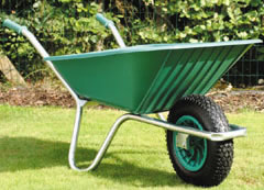Image of Garden Wheelbarrow - Green Clipper 90 to 110 ltr