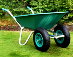 Image of Twin Wheelbarrow - Green Clipper 90 to 110 ltr