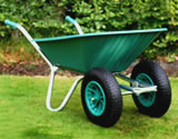 Small Image of Twin Wheelbarrow - Green Clipper 90 to 110 ltr