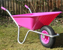 Image of Garden Wheelbarrow - Pink Clipper 90 to 110 ltr