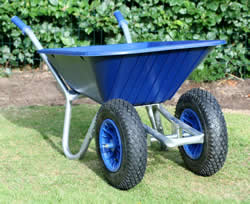 Image of Twin Wheelbarrow - Blue Clipper 90 to 110 ltr
