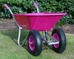 Image of Twin Wheelbarrow - Pink Clipper 90 to 110 ltr
