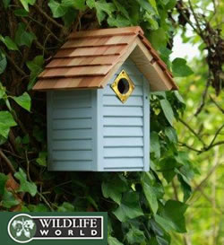 Image of New England Nest Box - Faded Corn Flower