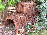 Small Image of Wicker Hedgehog House