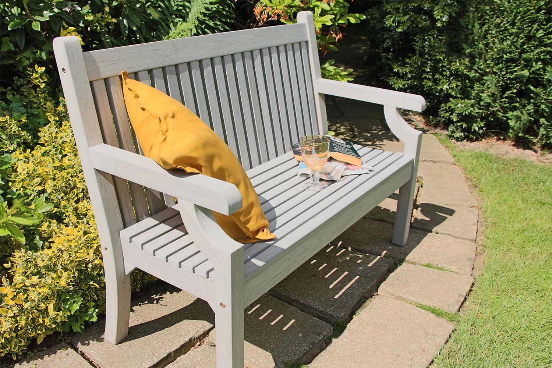 Winawood Sandwick 3 Seater Wood Effect Garden Bench in ...