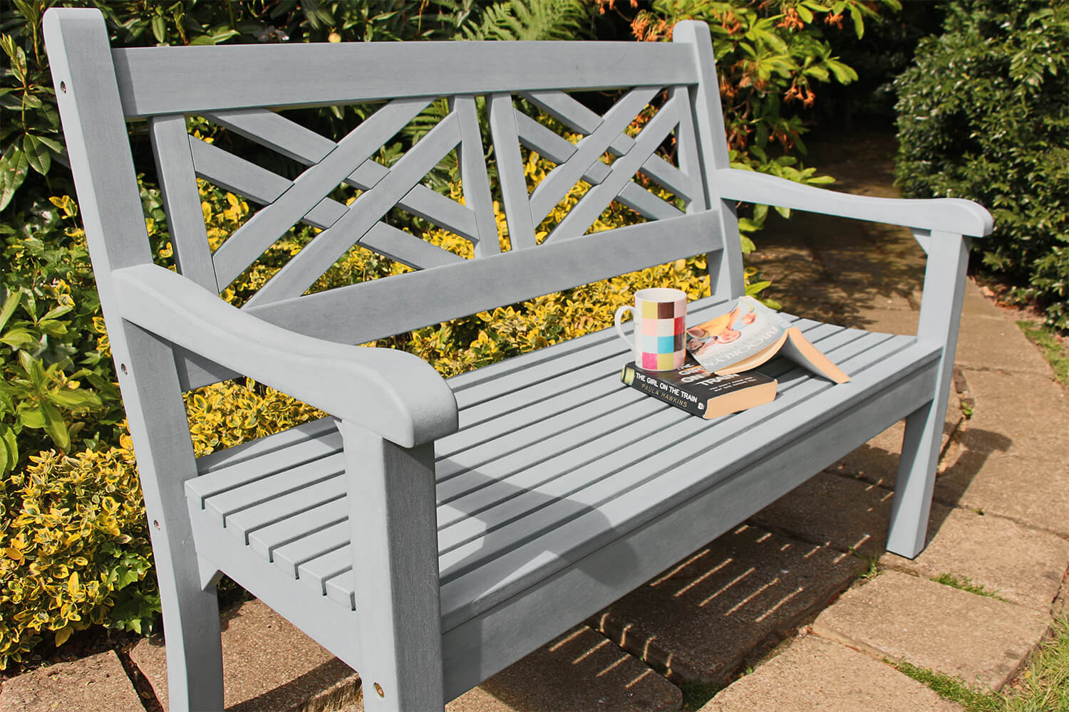 Winawood Speyside 2 Seater Wood Effect Garden Bench in ...