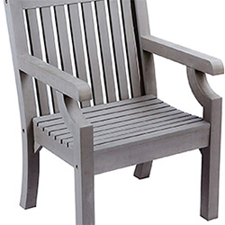 Small Image of Winawood Thin Slat Wood Effect Armchair - Stone Grey