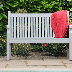 Extra image of Winawood Sandwick 2 Seater Wood Effect Garden Bench in Stone Grey