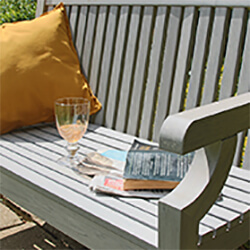 Small Image of Winawood Sandwick 2 Seater Wood Effect Garden Bench in Stone Grey