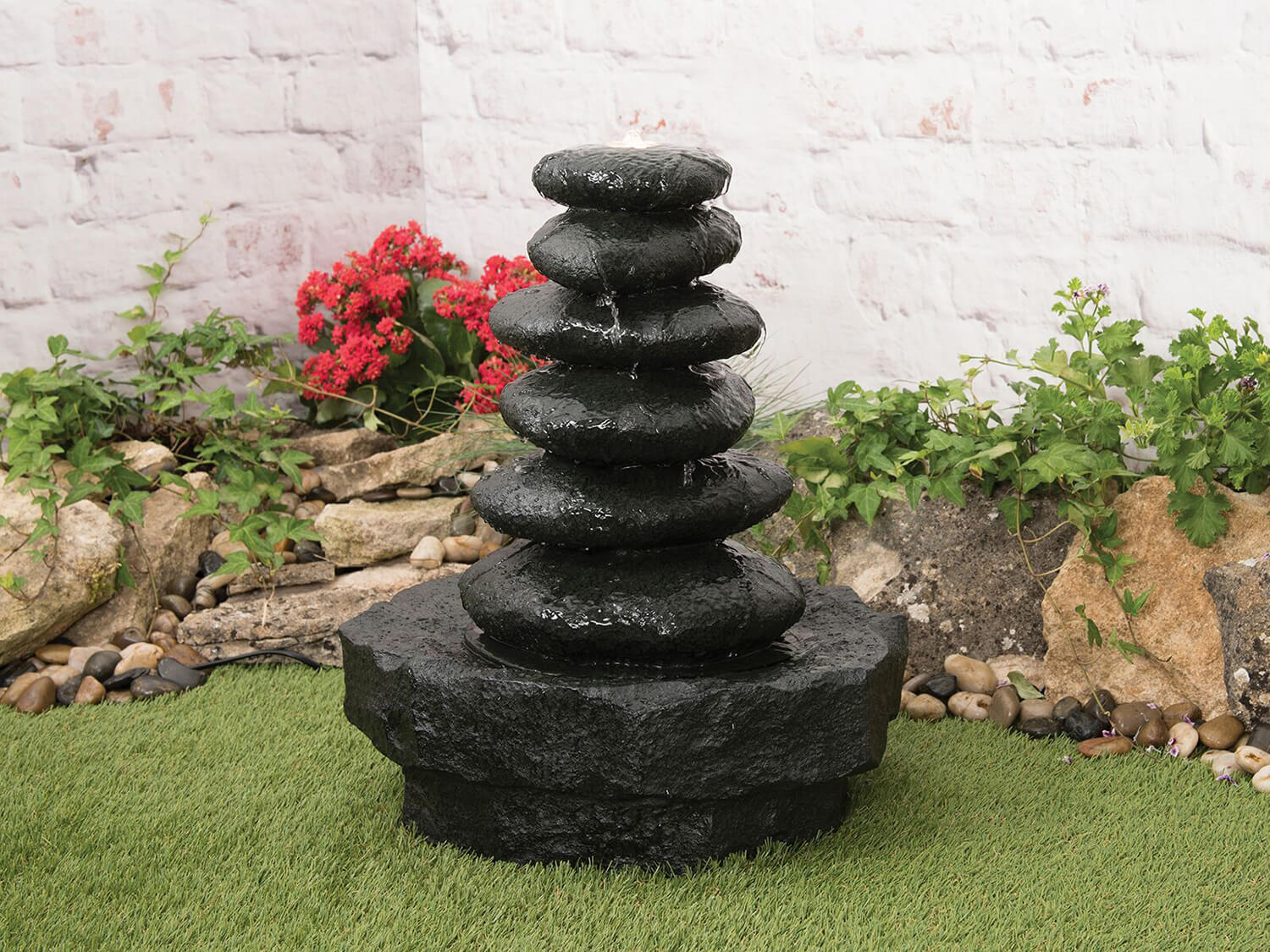 Woodlodge Kansai Stacked Stone Effect Water Feature 163 139