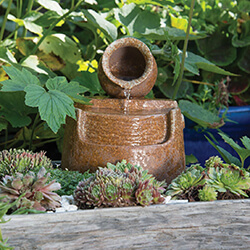 Small Image of Woodlodge Don Mini Pot And Flow Water Feature