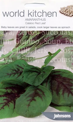 Image of World Kitchen Calaloo Red Leaf Amaranthus Seeds