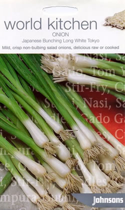 Image of World Kitchen Japanese Bunching Long White Tokyo Onion Seeds