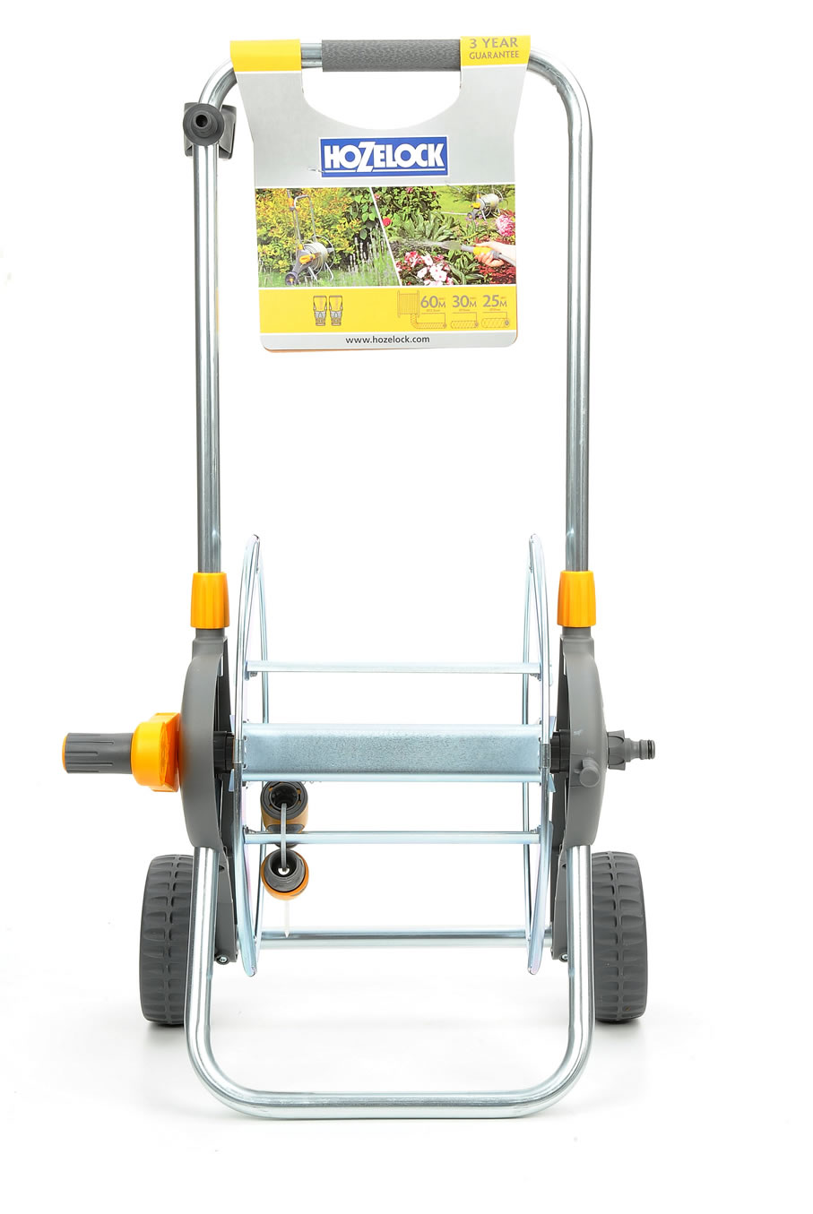 Hozelock Metal Hose Cart, 60m Capacity - 2437 - £46.99 | Garden4Less