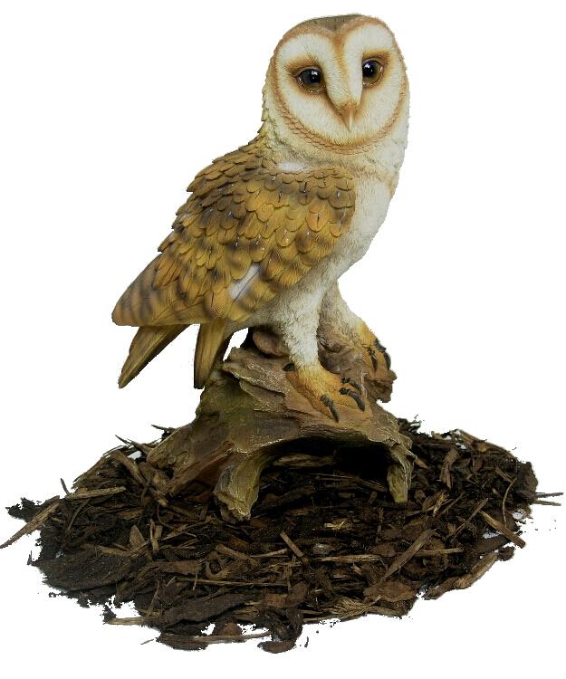 Barn Owl - Resin Garden Ornament - £32.99   Garden4Less UK ...