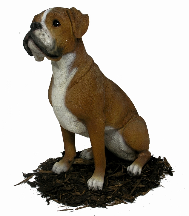 Boxer Dog Resin Garden Ornament 163 77 99 Garden4less