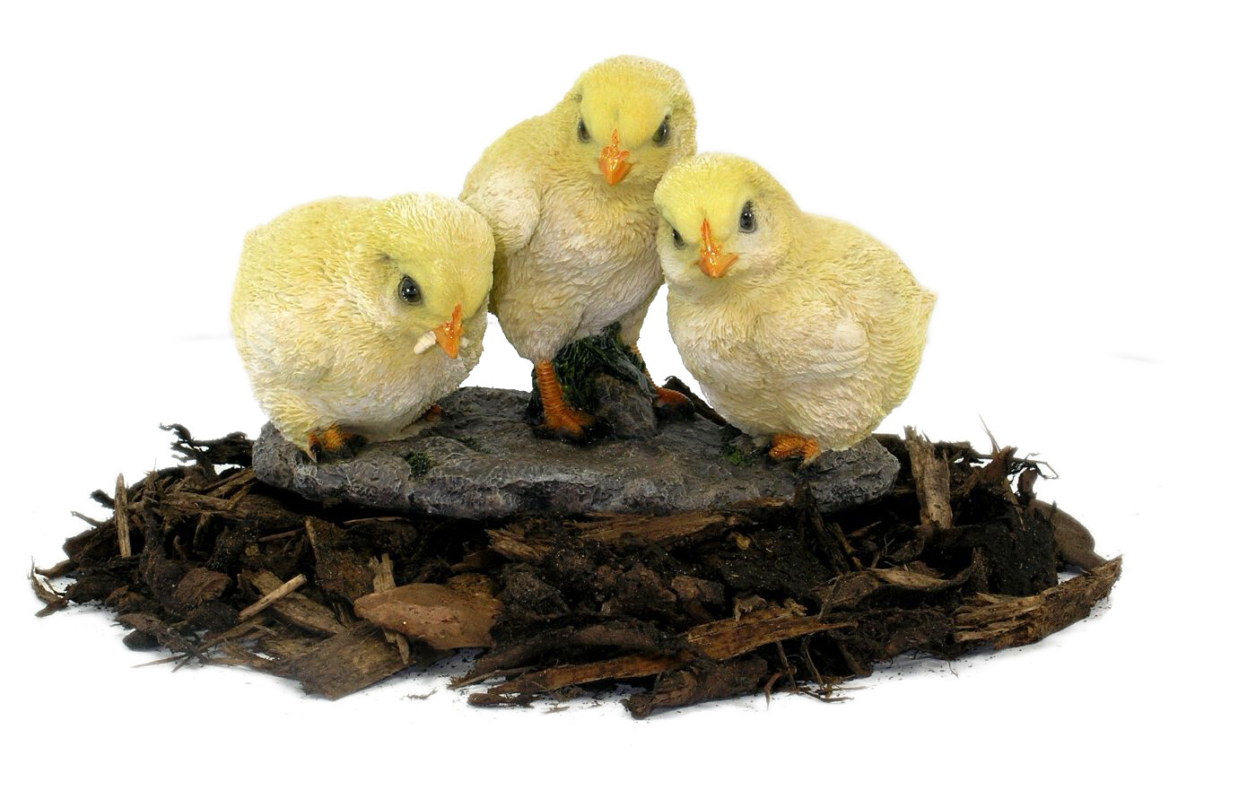 Easter chicks resin garden ornament for Outdoor house ornaments