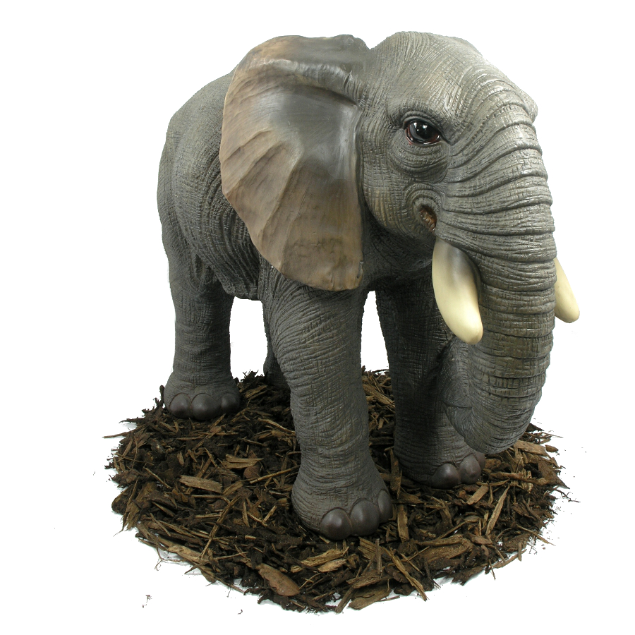 Marvelous Giant Elephant   Resin Garden Ornament   Spin Image Drag To Spin