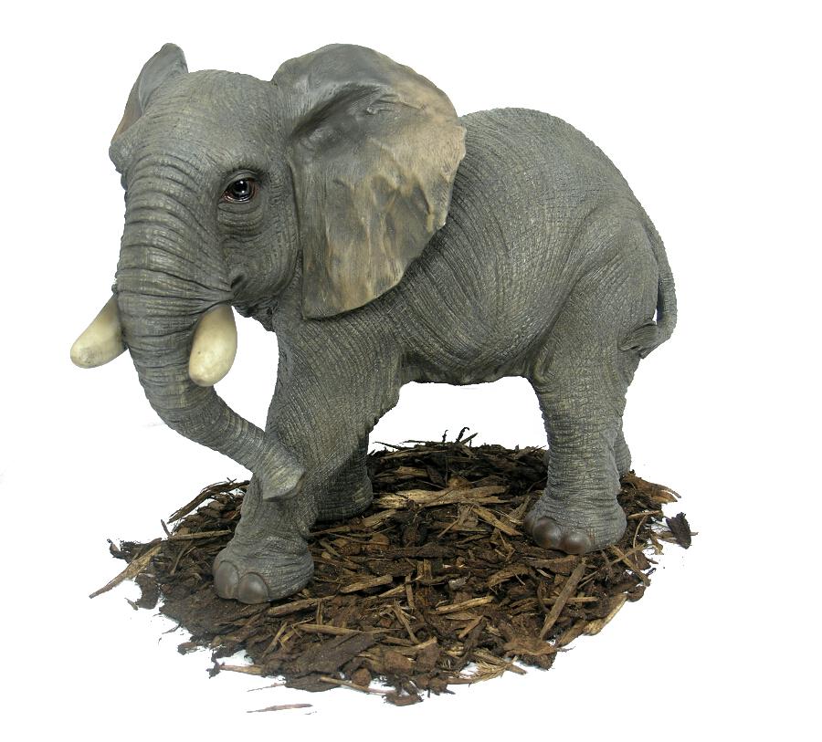 Large Elephant Resin Garden Ornament 163 59 99