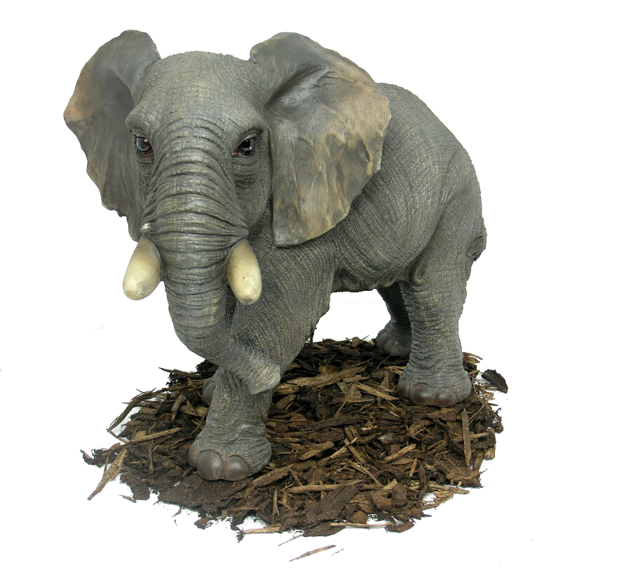 Large elephant resin garden ornament for Large outdoor ornaments