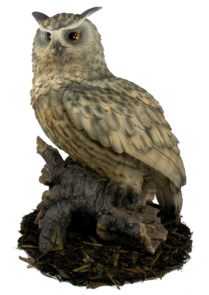 Eagle Owl Resin Garden Ornament 163 127 99 Garden4less