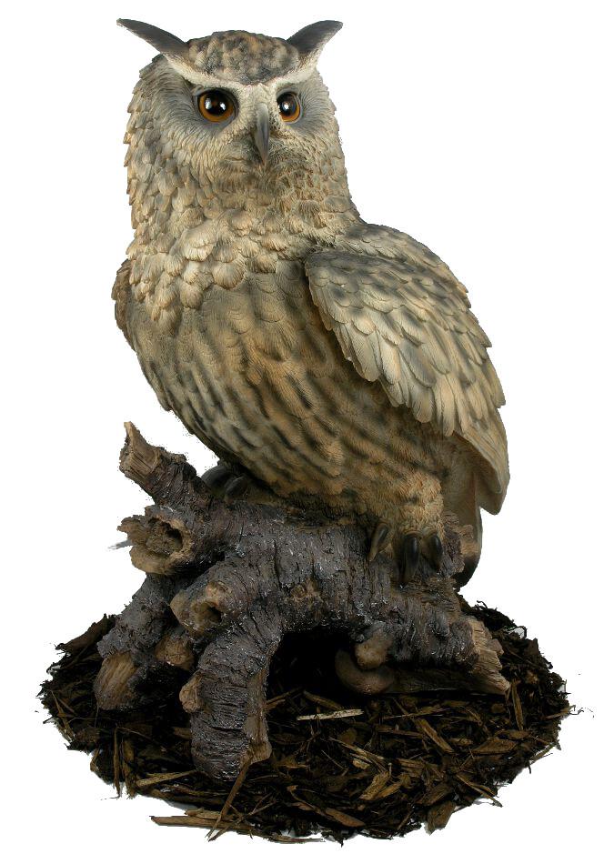 Eagle Owl Resin Garden Ornament 163 127 99 Garden4less