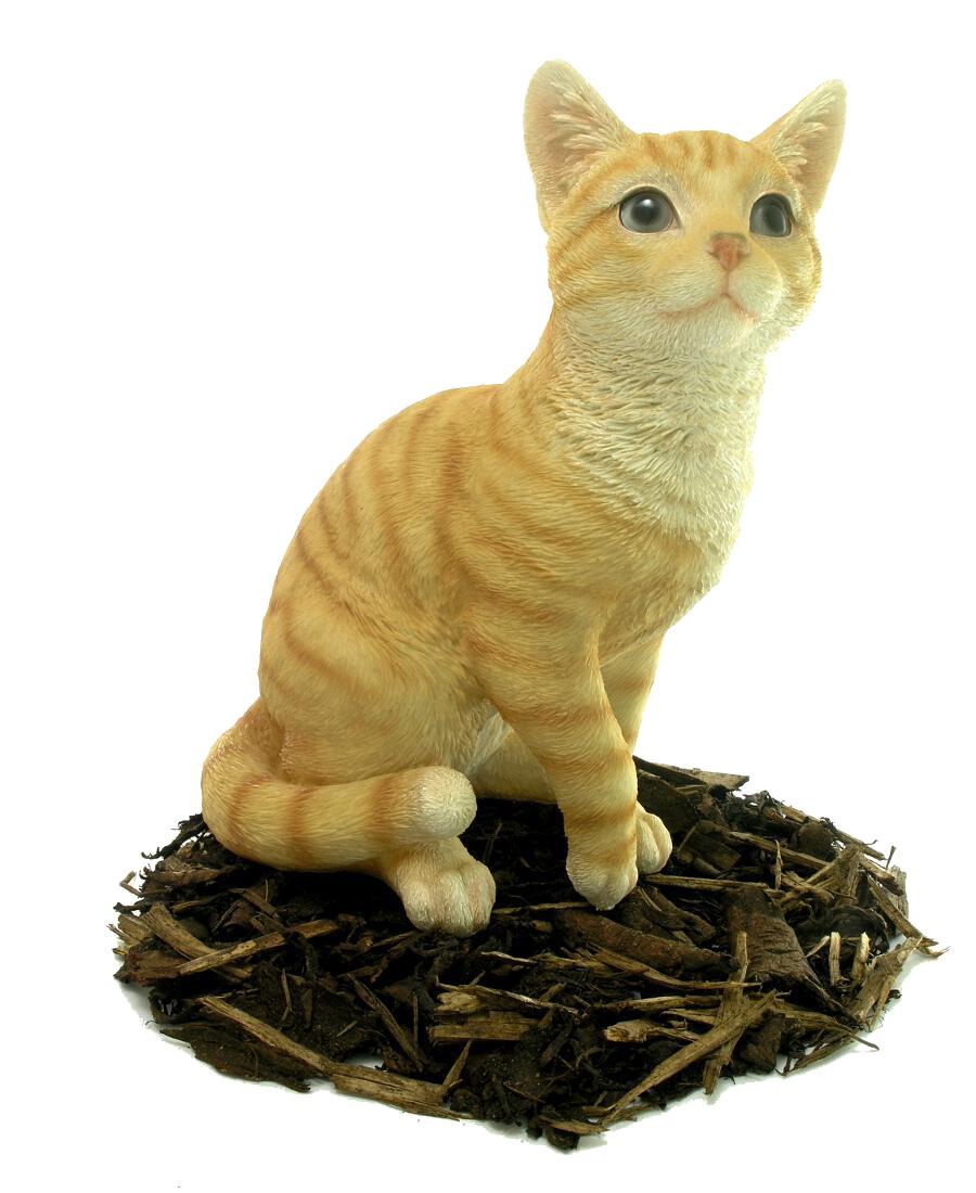 Sitting Ginger Cat Resin Garden Ornament 163 24 99