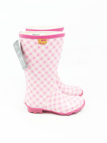 Briers Kids Pink Ice Wellies UK 13 - Spin Image