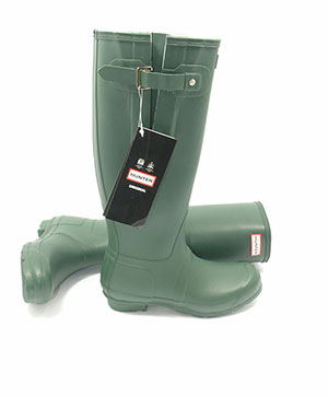 Genuine Green Adjustable Hunter Wellies (Original) - With Free Hotties