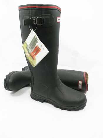 Hunter Balmoral Royal Wellies Dark Olive - UK Size 14 / Euro 49 - Spin Image