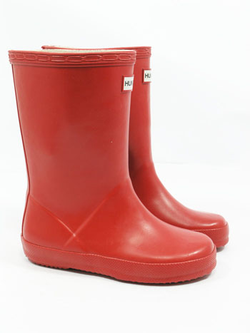 Kids First Hunter Wellies - Military Red UK 4 - Spin Image
