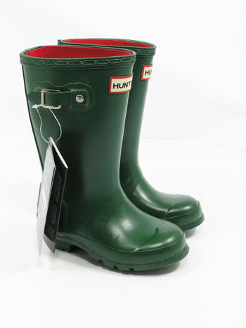 Kids Hunter Neoprene Wellies - Green UK 11 - Spin Image