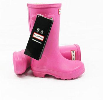 Kids Fuchsia Hunter Wellies - UK Size 12 - Spin Image