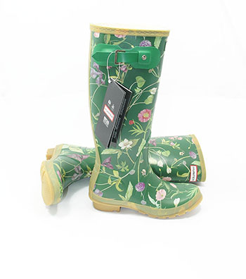 RHS Original Hunter Wellies Green - Spin Image