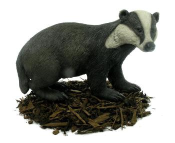 Badger - Resin Garden Ornament - Spin Image