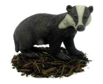Image of Badger - Resin Garden Ornament