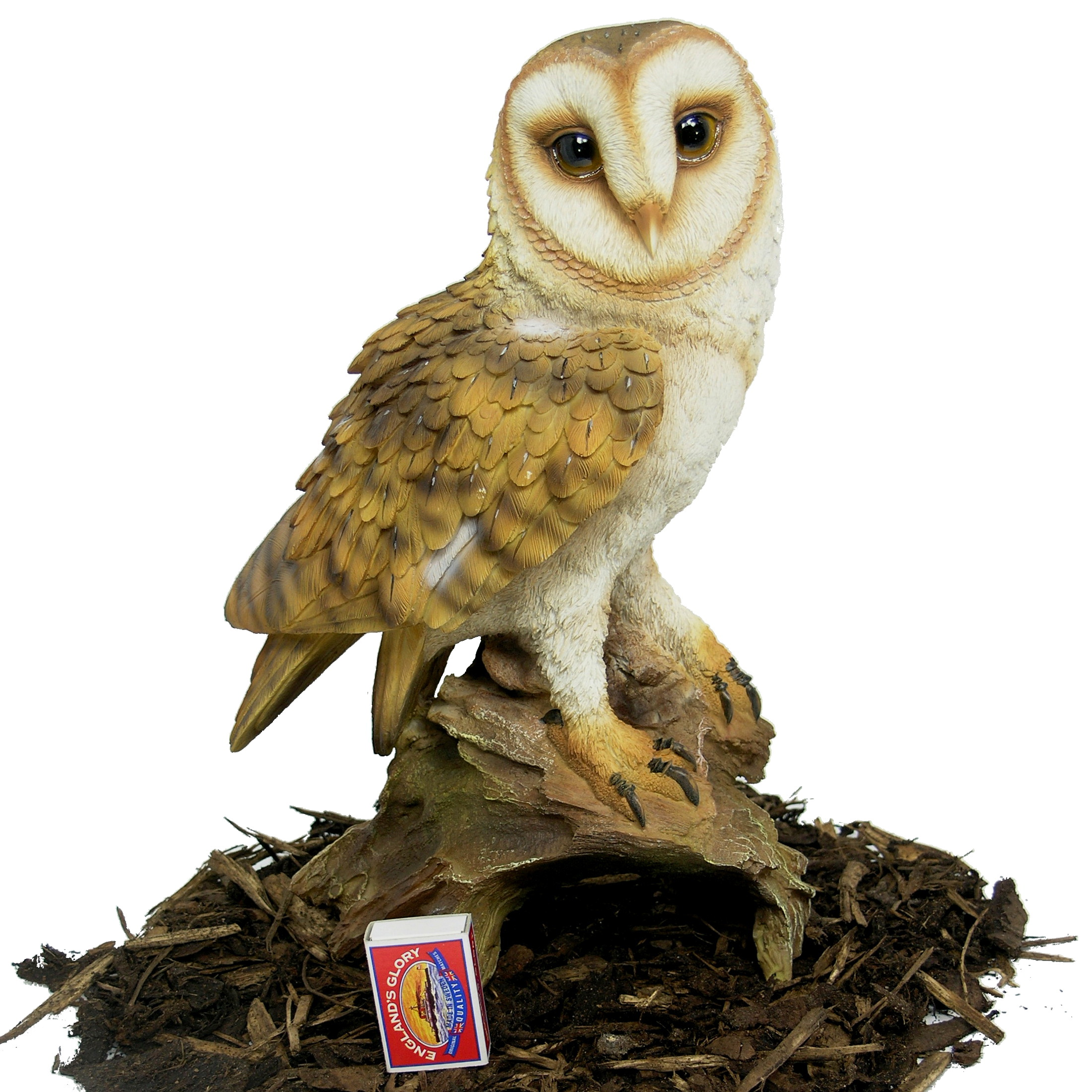Barn Owl Resin Garden Ornament 2699 Garden4Less UK Shop