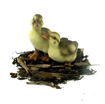 Duckling Pair - Resin Garden Ornament - Spin Image