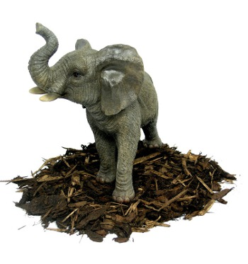 Trumpeting Elephant - Resin Garden Ornament - Spin Image