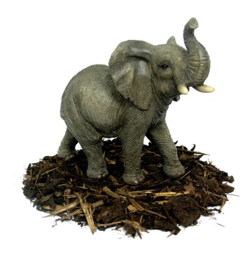 Image of Trumpeting Elephant - Resin Garden Ornament