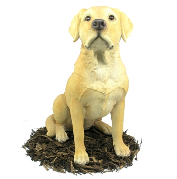 Golden Labrador Dog - Resin Garden Ornament - Spin Image