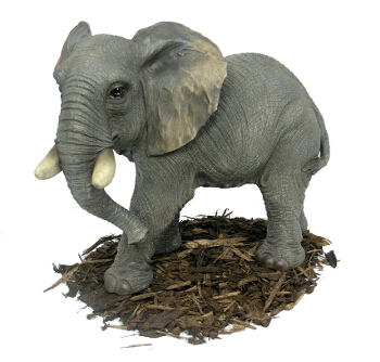 Large Elephant - Resin Garden Ornament - Spin Image