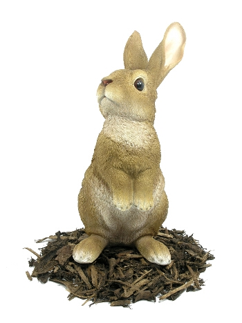 Lookout Rabbit - Resin Garden Ornament - Spin Image