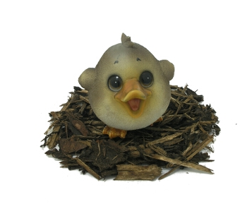 Cute and Playful Duckling - Resin Garden Ornament - Spin Image
