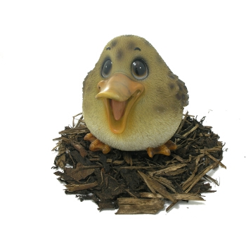 Cute and Playful Mother Duck - Resin Garden Ornament - Spin Image