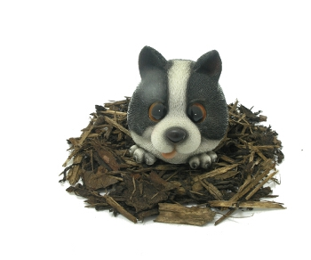 Vivid Cute and Playful Sheepdog Puppy Lifelike Resin Garden Ornament - Spin Image